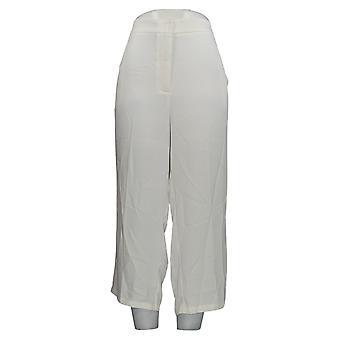 Linea by Louis Dell'Olio Women's Petite Pants Zip-Front Crop White A349648