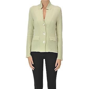 Anneclaire Ezgl112032 Women's Green Cashmere Blazer