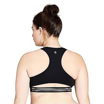 الأساسية 10 المرأة & ق أيقونة سلسلة - نجمة المسار بالإضافة إلى حجم الرياضة حمالة الصدر، أسود / رمادي ...