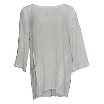 Linea by Louis Dell ' olio vrouwen ' s top Pebble crêpe tuniek wit A290929