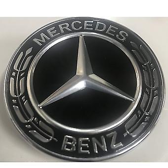 Black/Silver Mercedes Benz Wheel Center Cap Hub Badge 75mm 1 PCS For A B C E S G CLASS CLA CLS SLK ML AMG