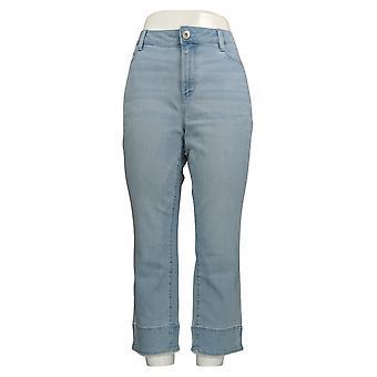 J.Jill Women's Jeans Cropped Slim Leg w/ Pockets Denim Blue