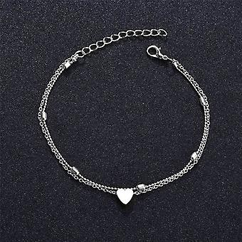 Chain Anklet-on The Leg Foot Bracelet, Slim, Adjustable, Wire Ankle Summer