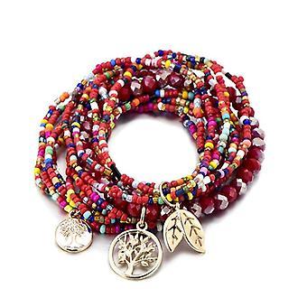 Women Bohemia Strand Bead Charm Bracelet & Bangle