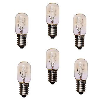 220v 15w E14 kjøleskap lyspærer komfyr Wolfram filament lampe (6pcs 15w)