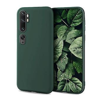 HATOLY Xiaomi Mi Note 10 Lite Ultraslim Funda de silicona TPU Funda de caja verde oscuro