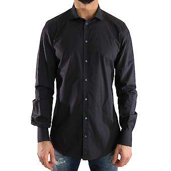 Dolce & Gabbana Blue Formal Slim Fit Katoenshirt