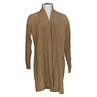 Soft By NAADAM Women's Sweater 100% Cashmere Cardigan Beige A370922