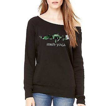 Humor Irish Yoga Women's Black Sweatshirt