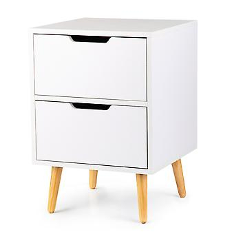 Closet, bedside table, 2 drawers, pine legs