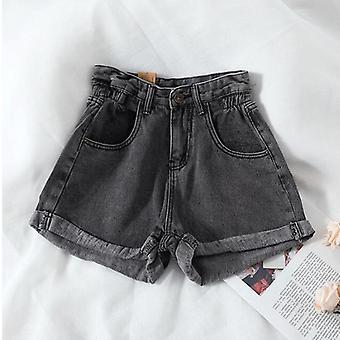Letní džínové šortky s vysokým pasem příležitostné volné módy plus velikost elastická krátká