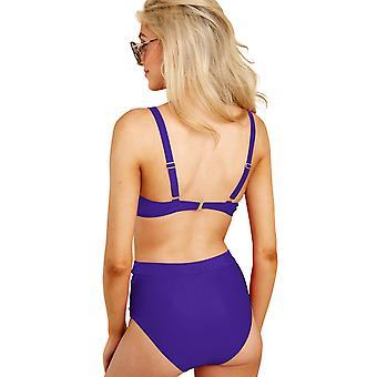 Gestreifte hohe Taille Bikini