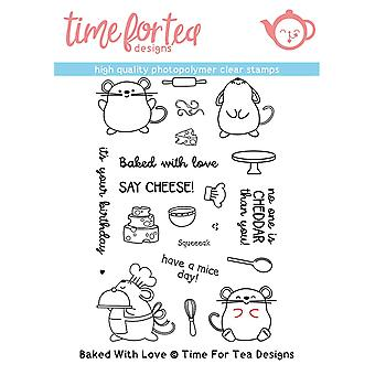 Time For Tea Baked With Love Clear Stamps