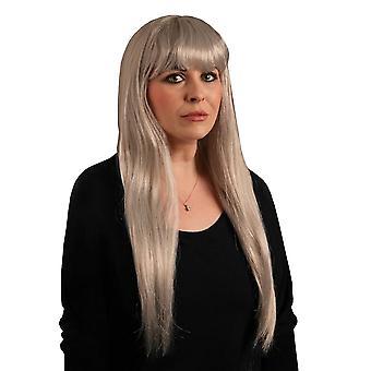 Scream Machine Halloween Fringed White Wig