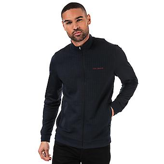 Men's Ted Baker Goodput Full Zip Sweatshirt in Blauw