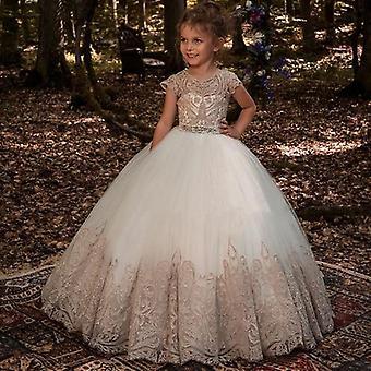 Satin Schleife Kinder Prinzessin Kleid