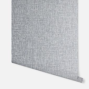295400 - Luxe Hessian Mid Grey - Arthouse Wallpaper