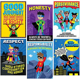 Superhero Character Education Inspire U Poster Pack, 6 Affiches
