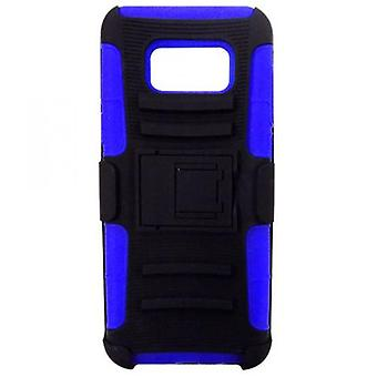 AFTERMARKET COMBO CASE W/STAND FOR GALAXY S8 PLUS - BLEU/NOIR
