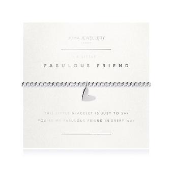 Joma Smykker faceted en lille fabelagtig ven Sølv 17.5cm Stretch armbånd 3186