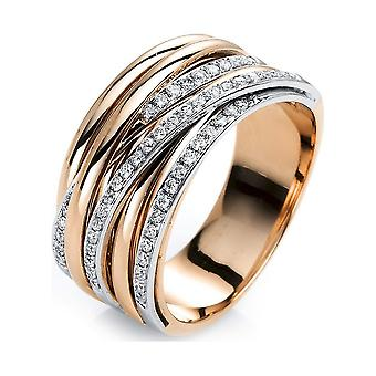 Luna Creation Promessa Ring Multiple Stone Trim 1G420RW854-3 - Largura do anel: 54