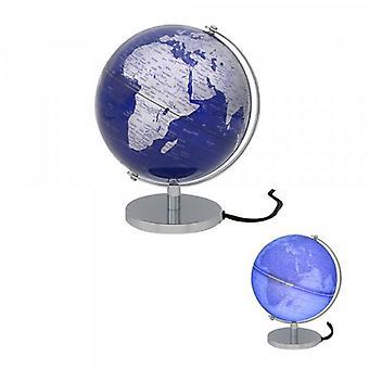 Globe Silver & Blue Light Up By Lesser & Pavey