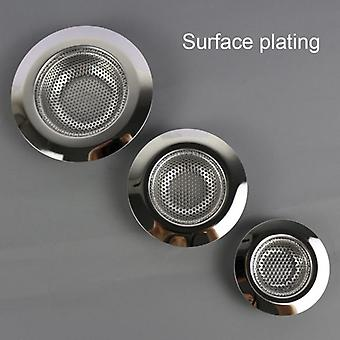 Stainless Steel Kitchen Filter Sinks Strainer, Drain Hole Trap, Metal Sink,