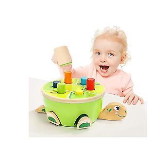Giocattoli Montessori per bambini che imparano le abilità motorie fini Giocattoli in legno prescolare martellamento