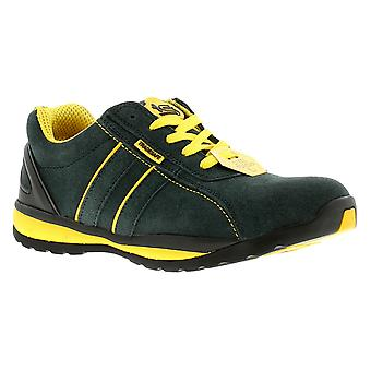 New Mens/Gents Navy Tradesafe Suede Steel Toe Cap Safety Shoes. UK Size