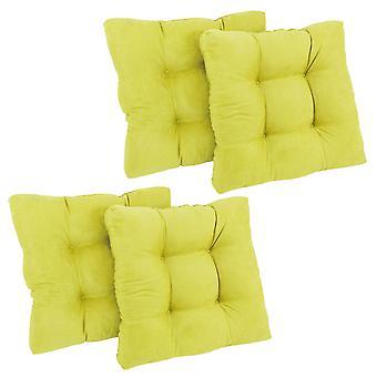 Coussin de chaise à manger Tufted Tufted Microsuede de 19 pouces (Ensemble de quatre) - Mojito Lime