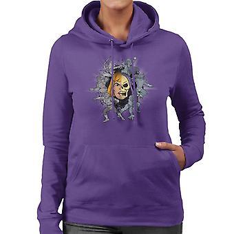 Mästare i universum han man hälften Skeletor Montage Kvinnor & s Hooded Sweatshirt