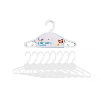 FIRST STEPS Baby Clothes Hangers 8 Pack - White