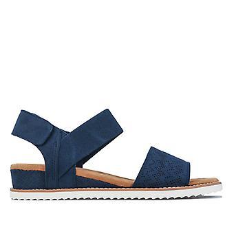 Women's Skechers BOBS Desert Kiss Sandals in Blue