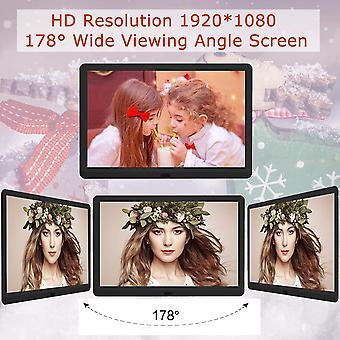 HanFei 10 Zoll Digitaler Bilderrahmen, Elektronischer Fotorahmen mit 32GB SD Karte, Hochauflsend