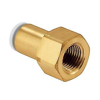 Adattatore dritto filettato per tubo pneumatico SMC, Rc 1/4 femmina, spingere In 6 Mm