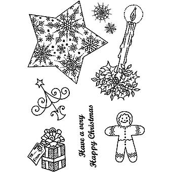 Personal Impressions Snowflake Star Clear Stamps
