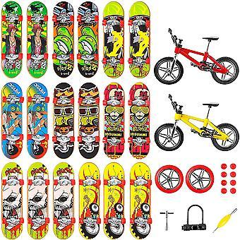 HanFei 33 Stuck Mini Finger Skateboards Kinder Spielzeuge Professionelle Deck Truck Fingerboards BMX