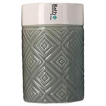 bath cup 280 ml ceramic green/white