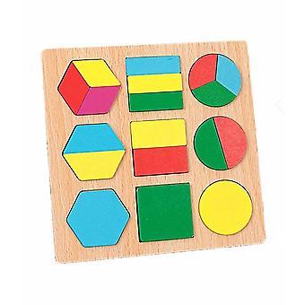 Kuusikulmainen neliöympyrän muotoinen pulmapeli