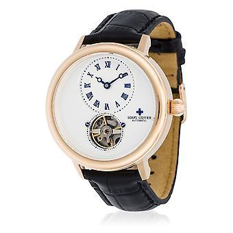 Watch Louis Cottier STORYMATIC Automatic 43 mm White pink case - black bracelet - HB34333C2BC1