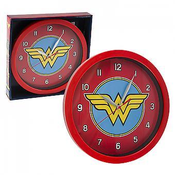"DC Comics Wonder Woman Symbol Print 9 3/4"" Wall Clock"