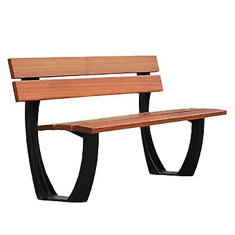 Outdoor Garten Bänke Aluminium Metall Rahmen Teak Holz Latten Sitz