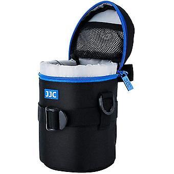 Wokex Deluxe Objektiv Tasche mit 1 x Umhängeband, Wasserabweisend, Schwarz, passt Objektiv