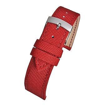 Kierrätetty kellohihna merimuovi punainen 14mm - 20mm