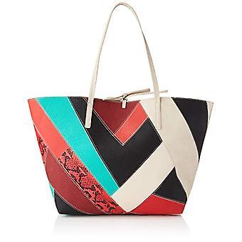 Desigual PU حقيبة التسوق، المتسوقة حقيبة المرأة، أبيض، U(3)