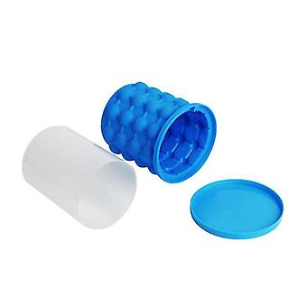 Silicone Ice Maker Bucket Fast Cold Ice Bucket Space Saving s Ice Ball Silicon Ice Cube Maker(Blue)