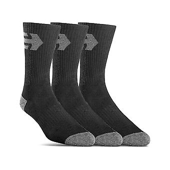 Etnies Direct 3 Pack Crew Socks in Black
