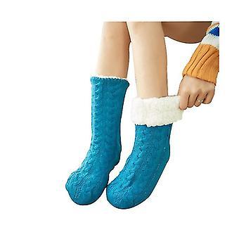 מחממי מחמם רגליים כחולים לגרביים רכות לנשים x2753