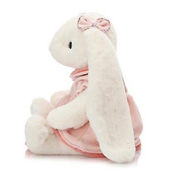 Neue Kaninchen Puppe Plüsch Spielzeug Rock weiß Hase Kinder Geschenk 23cm ES5241