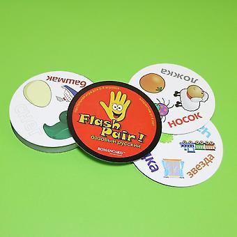 Flash pair zwierzęta gra planszowa spot to sport & alfabet dla dzieci rodzina zabawa dwukrotnie to angielski wersja gra karciana prezenty
